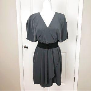 H&M | Grey Blousy Flowy Belt Career Work Dress 10